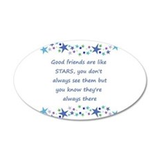 Good Friends are like Stars Inspirational Quote De