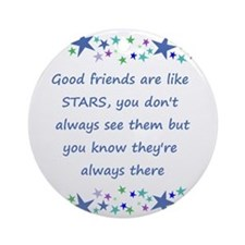 Good Friends are like Stars Inspirational Quote Ro