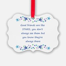 Good Friends are like Stars Inspirational Quote Pi