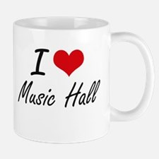 I Love MUSIC HALL Mugs