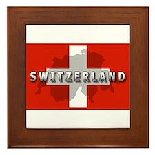Switzerland Flag Plus Framed Tile