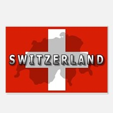 Switzerland Flag Plus Postcards (Package of 8)