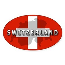 Switzerland Flag Plus Oval Decal