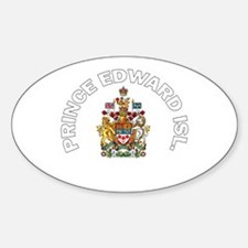 Prince Edward Island Coat of Oval Decal