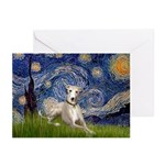 Starry Night Whippet Greeting Cards (Pk of 20)