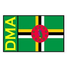 Dominican stickers Rectangle Decal