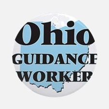Ohio Guidance Worker Round Ornament