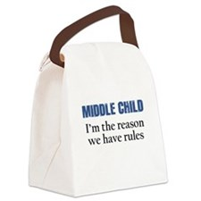 MIDDLE CHILD Canvas Lunch Bag