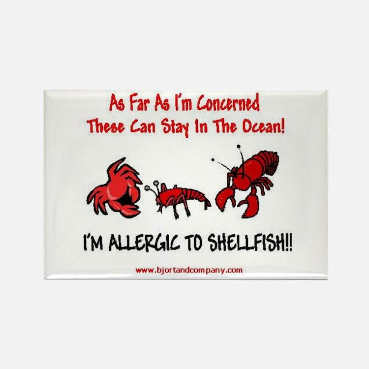 Shellfish Allergy Rectangle Magnet