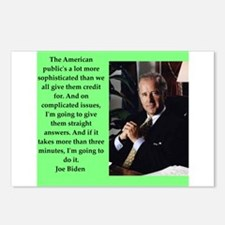 joe biden quote Postcards (Package of 8)