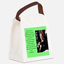 joe biden quote Canvas Lunch Bag