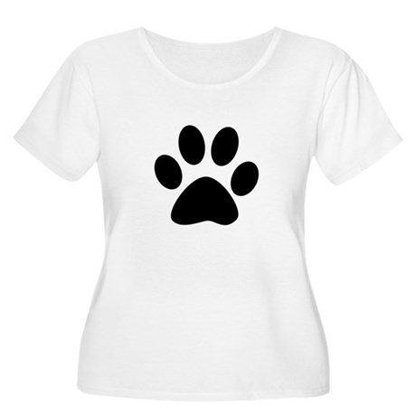Black Paw Women's Plus Size Scoop Neck T-Shirt