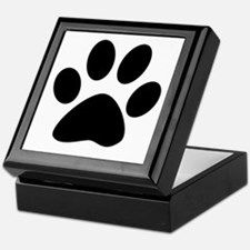 Black Paw Keepsake Box