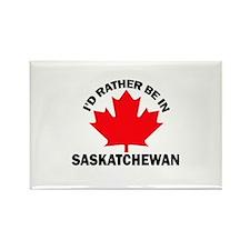 I'd Rather Be in Saskatchewan Rectangle Magnet