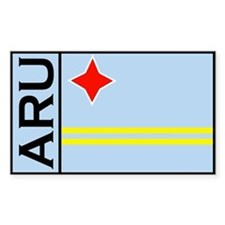 Aruban Rectangular sticker Rectangle Decal
