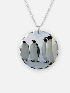 Lined up Emperor Penguins Necklace