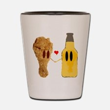 Chicken and beer Shot Glass