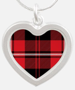 Cunningham Clan Silver Heart Necklace