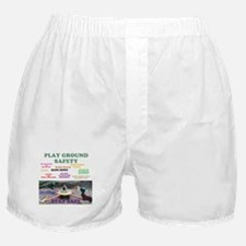 PLAY GROUND SAFETY BEAR. COLONIA, NEW Boxer Shorts