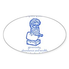 Jupiter Blue Oval Decal