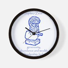 Jupiter Blue Wall Clock