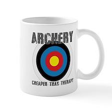 Archery, Cheaper Than Therapy Mugs