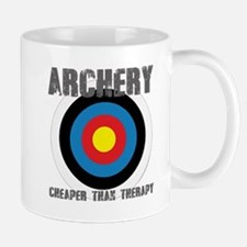 Archery, Cheaper Than Therapy Mugs