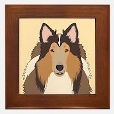 Collie Framed Tile