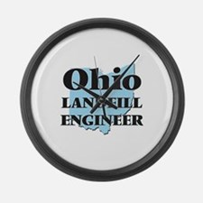Ohio Landfill Engineer Large Wall Clock