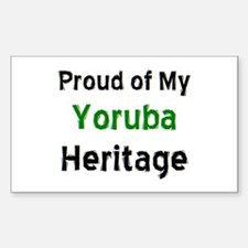 yoruba heritage Sticker (Rectangle)