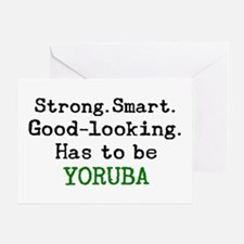 be yoruba Greeting Card