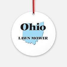 Ohio Lawn Mower Round Ornament