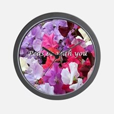 Peas be with you sweet peas Wall Clock