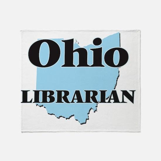 Ohio Librarian Throw Blanket