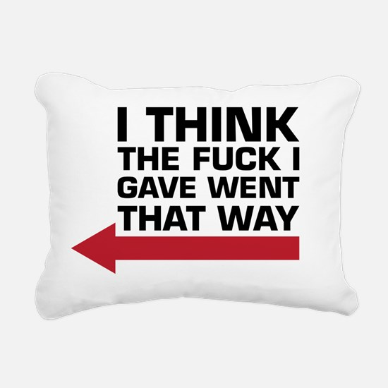 Funny Vulgar Rectangular Canvas Pillow