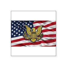 """Unique Patriotic Square Sticker 3"""" x 3"""""""