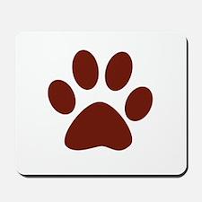 Maroon Paw Mousepad