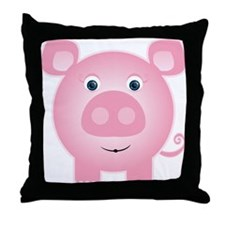 Cute Pig lover Throw Pillow