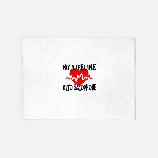 My Lifeline Alto Saxophone 5'x7'Area Rug
