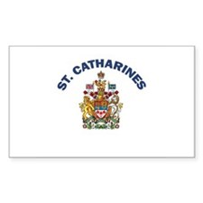 St. Catharines Coat of Arms Rectangle Decal