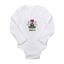 Unique Nigeria Long Sleeve Infant Bodysuit