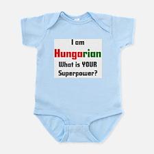 i am hungarian Infant Bodysuit