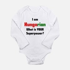 i am hungarian Long Sleeve Infant Bodysuit