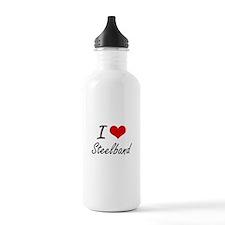 I Love STEELBAND Water Bottle