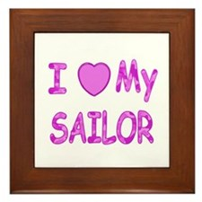 I love my Sailor (Pink) Framed Tile