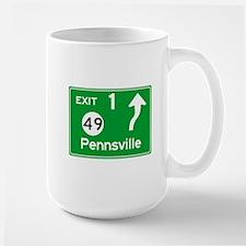 NJTP Logo-free Exit 1 Pennsville Mug