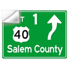 NJTP Logo-free Exit 1 Salem County Wall Decal