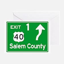 NJTP Logo-free Exit 1 Salem County Greeting Card