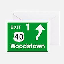 NJTP Logo-free Exit 1 Woodstown Greeting Card