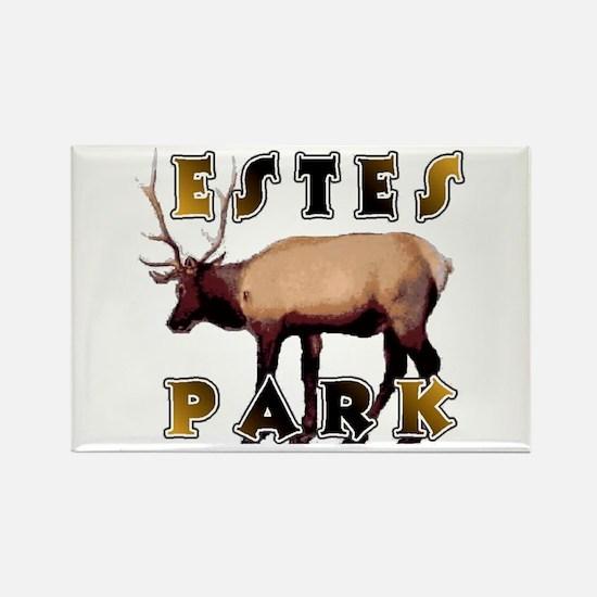 Estes Park , Colorado Elk Rectangle Magnet